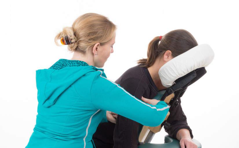 Stoelmassage op de werkplek
